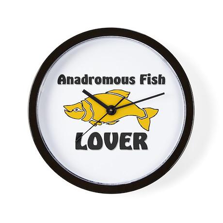 Anadromous Fish Lover Wall Clock