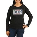 Obama License Plate Women's Long Sleeve Dark T-Shi