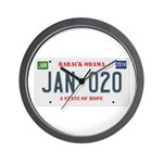 Obama License Plate Wall Clock