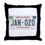 Obama License Plate Throw Pillow