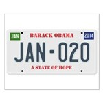 Obama License Plate Small Poster