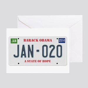 Obama License Plate Greeting Card