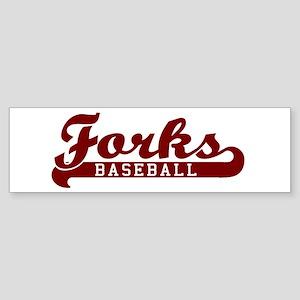 Forks Baseball Bumper Sticker