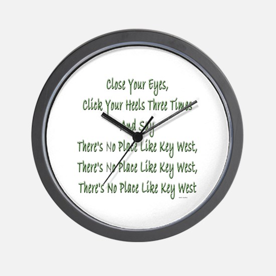 No Place Key West Wall Clock