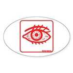 RED EYE! Oval Sticker