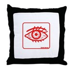 RED EYE! Throw Pillow