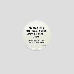 Biker Dad Mini Button