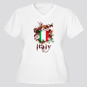 Butterfly Italy Women's Plus Size V-Neck T-Shirt