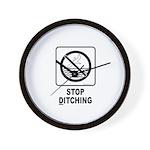 Stop Ditching! Wall Clock
