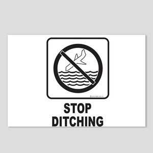 Stop Ditching! Postcards (Package of 8)