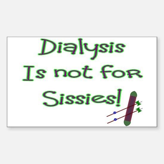 Dialysis Patient Rectangle Decal