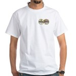 Travel Addict 'Style 2' White T-Shirt