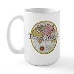 Travel Addict 'Style 2' Large Mug