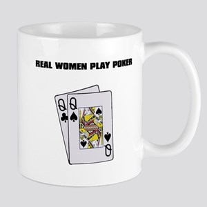 """Real Women Play Poker"" Mug"