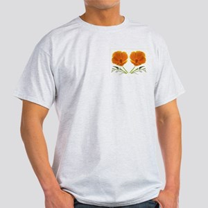 Golden Poppy Flower Ash Grey T-Shirt