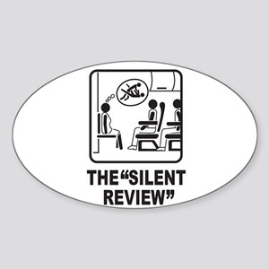 Silent Review Oval Sticker