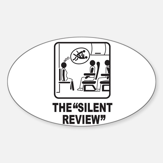 Silent Review Oval Decal