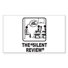 Silent Review Rectangle Sticker