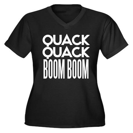 Quack Quack BOOM BOOM Women's Plus Size V-Neck Dar