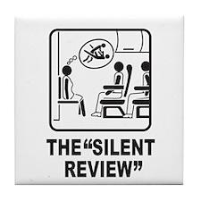 Silent Review Tile Coaster
