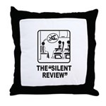 Silent Review Throw Pillow