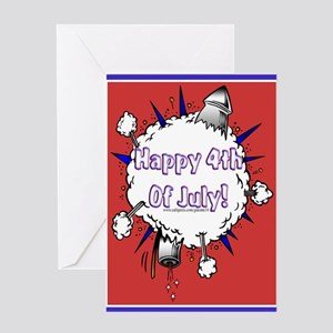 Happy 4th Rocket Blast Greeting Card