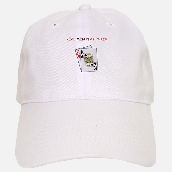 """Real Men Play Poker"" Baseball Baseball Cap"