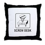 Screw Desk Throw Pillow