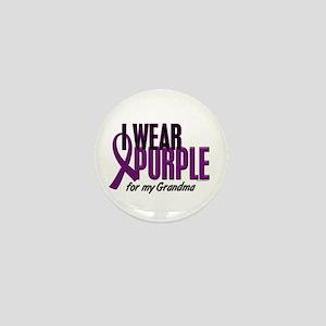I Wear Purple For My Grandma 10 Mini Button