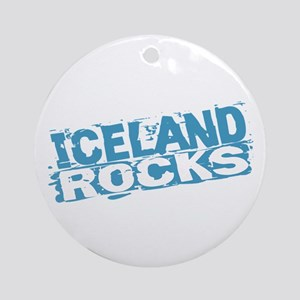 Iceland Rocks Ornament (Round)