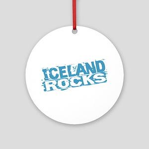 Iceland Rocks Ornament (Round)