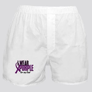 I Wear Purple For My Dad 10 Boxer Shorts
