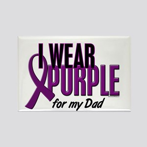 I Wear Purple For My Dad 10 Rectangle Magnet