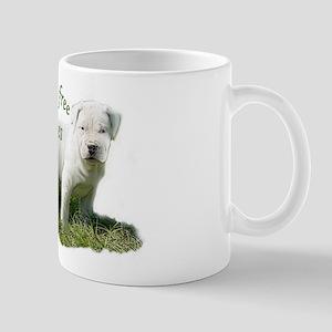 dogo argentino kisses Mug
