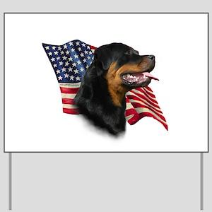 Rottweiler Flag Yard Sign