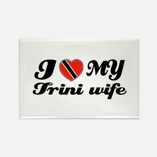 I love my Trini Wife Rectangle Magnet