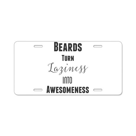Beards Turn Laziness Into A Aluminum License Plate by