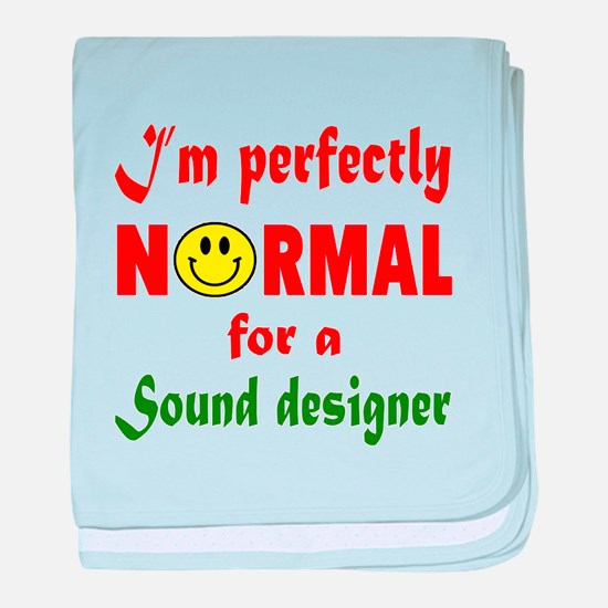 I'm perfectly normal for a Speechwrit baby blanket
