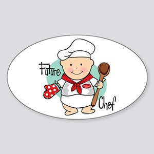 Future Chef Oval Sticker