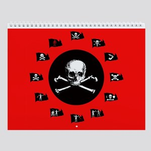 12 Months Of Pirate Flags Wall Calendar