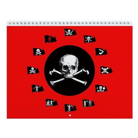 12 Months Of Pirate Flags Wall Calendar