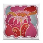 Singing Flower Tile Coaster