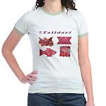 Talidari's Pink Paintings Jr. Ringer T-Shirt