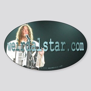 A Man And His Accordion 2 Oval Sticker