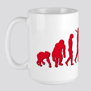 Evolution of Polish Football Large Mug