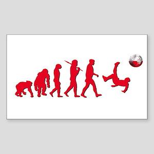 Evolution of Polish Football Sticker (Rectangle)