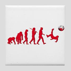 Evolution of Polish Football Tile Coaster