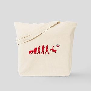 Evolution of Polish Football Tote Bag