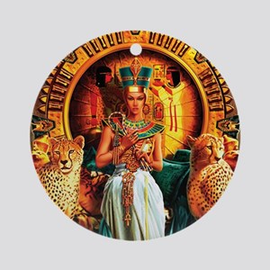 Queen Cleopatra Round Ornament