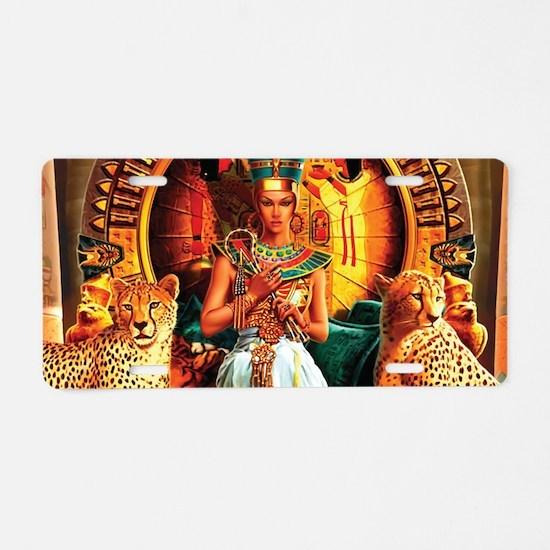 Queen Cleopatra Aluminum License Plate